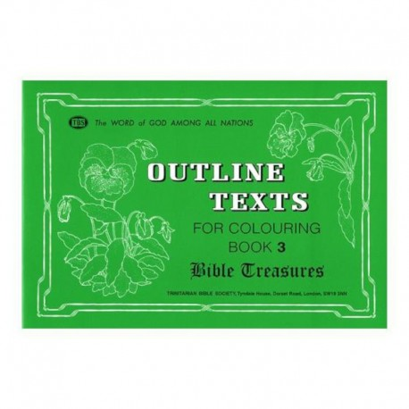 Outline Texts Coloring Book 3