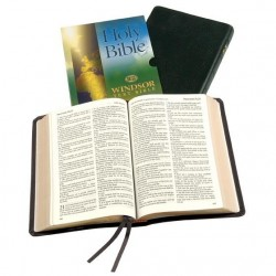 Windsor Text Bible - KJV - Calfskin - Thumb Index - BLACK