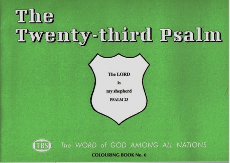 The Twenty-Third Psalm Coloring Book 6 - Outline Texts