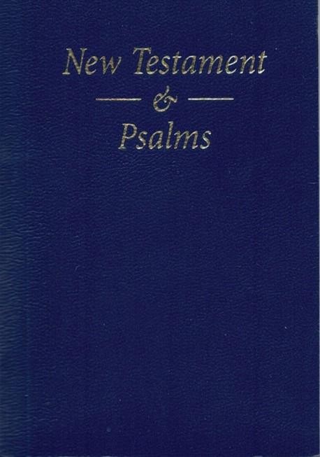 New Testament & Psalms Bible - Blue